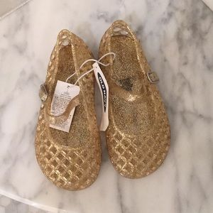 Old Navy Gold Jelly Shoes